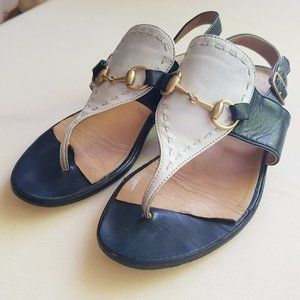 ⚓ 90s GUCCI Italy leather horsebit sandals - 5-5.5